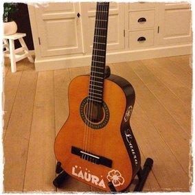 Naamsticker voor gitaar